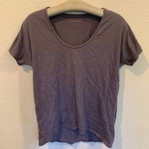 Evelane u neck women's tee shirt